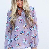 Maybe It's Mauve Floral Blouse