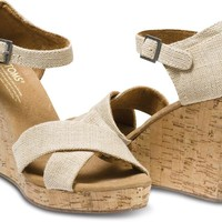 Toms Shoes Strappy Wedge (Sierra) Shoes Womens Shoes at 7TWENTY Boardshop, Inc