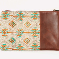 Tribal Leather Carryall   TOMS