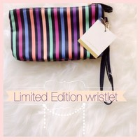 Limited Edition striped wristlet