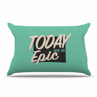"""Juan Paolo """"Epic Day"""" Vintage Teal Pillow Sham"""