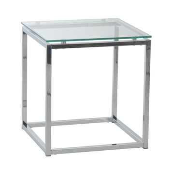Smart Side Table Clear Glass/Chrome