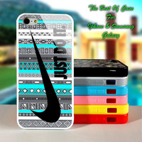 Nike Just Do It on Aztec Mint Pattern - iPhone 4/4s, iPhone 5s, iPhone 5c case.