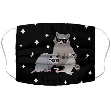 Team Trash Opossum Raccoon Rat Face Mask Cover