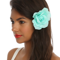 Mint Flower Hair Clip/Tie
