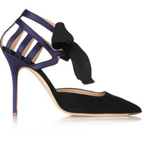 J.Crew - Collection suede and satin pumps