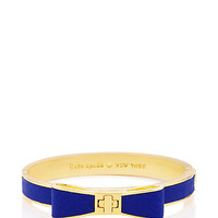 Kate Spade Perfectly Placed Hinged Leather Bow Bangle Blue Lapis ONE
