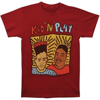 Kid 'n Play Men's  Kid 'N' Play 80's Distressed Tee T-shirt Maroon