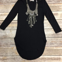 Easy Going Ribbed Top: Black