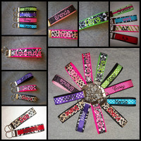 Monogrammed Embrodiered & personalized KEY CHAIN