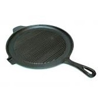 Old Mountain Cast Iron Preseasoned Round Griddle Grill Pan
