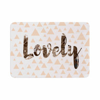 "Suzanne Carter ""Lovely"" Beige Digital Memory Foam Bath Mat"