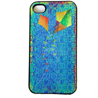 iPhone Case 4 & 4S Cell Phone Case Vintage Kites Art