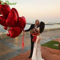 18inch 8pcs Heart love Balloons Inflatable Foil Balloon Wedding Valentine Day Decorations Helium Balloon i love you Globos