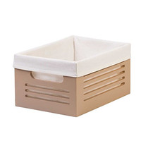 """Storage Bins - Office Desk Organizer with Lots of Room- Easy to Carry- Remarkable Build Quality- Washable Fabric Liner- Fights Odors- Brilliant for Organizing - 8.2"""" x 11.4"""" x 5.7"""" h Beautiful Tan!"""