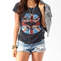 Union Jack Lip Stain Tee   FOREVER21 - 2017307687