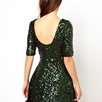 French Connection Sequin Skater Dress