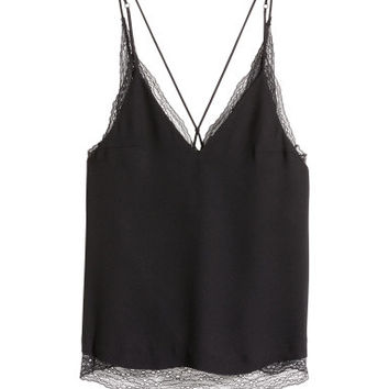 H&M Double-layer Lace Camisole Top $39.99