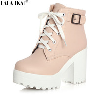 LALA IKAI Winter Lace-Up shoes Platform
