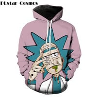 PLstar Cosmos Classic cartoon Rick and Morty 3d Hoodies Funny Crazy Scientist Rick Print Men Women Streetwear hoody Sweatshirt