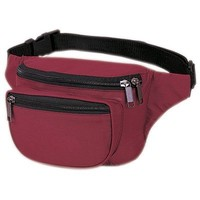 Yens® Fantasybag 3-Zipper Fanny Pack, FN-03 (Burgundy)