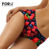 Strawberry Pattern Sexy Seamless Panty Breathable Female Underwear Briefs Bragas
