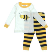 Leveret Embrodiered Baby Pajama Set
