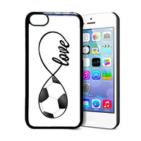 SudysAccessories Soccer Love Soccer Infinity Love Thinshell Case Protective iPhone 5C Case