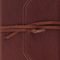 ESV Single Column Journaling Bible (Brown, Flap with Strap)