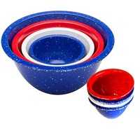 Zak Designs Confetti Nested Mixing/Prep Bowl Set - Red, White and Blue (8 pc.)