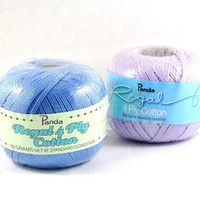 Soft Cotton Yarn - 4 Ply - 50 grams for Knitting, Crochet & Craft Projects - Australian Made - Baby Blue or Lilac by DeeDeeSupplies