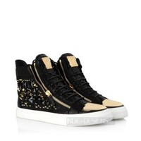 Indie Designs Studded Calfskin Leather Sneakers