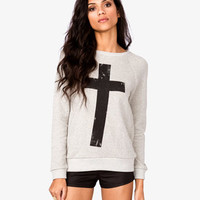 French Terry Cross Pullover