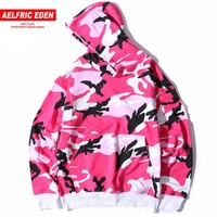 Aelfric Eden Camo Hoodies Men Hip Hop Camouflage Pullover Sweatshirts Male Fashion Casual Cotton Hoodie Streetwear 8 Colors St08