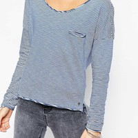 Only | Only Pocket Front Stripe Jersey Top at ASOS