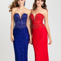 Madison James 16-404 Lace Prom Pageant Dress or Evening Gown