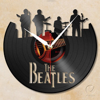 vinyl wall clock - the Beatles