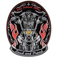 Loud and Proud Old Skool Biker Large Patch