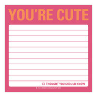 Knock Knock You're Cute Sticky Note - Official Shop