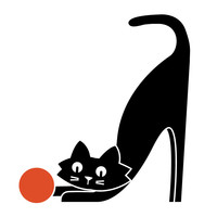 Curious Cat by Budi Kwan Wall Decal