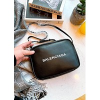 Balenciaga simple men's and women's printed letter shoulder bag crossbody bag