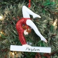 Gymnast Personalized Christmas Tree Ornament