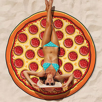 Giant Size Pizza Beach Blanket | Beach Gear