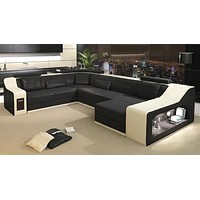 Modern City Style Luxurious Leather Sectional Sofa Set
