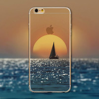 Sea Sunset Tourism Scenery iPhone 5 5S iPhone 6 6S Plus Case + Nice Gift Box -125