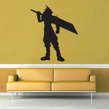 Cloud Silhouette - Final Fantasy 7 - Wall Decal$8.95