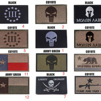 Military Embroidered Velcro Patches