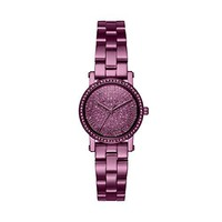 Michael Kors Women's Ion-Plated Round Face Petite Norie Watch