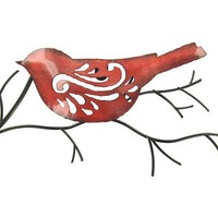 Red Bird on a Twig Metal Wall Decoration | Shop Hobby Lobby