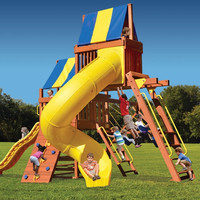 Playground One Original Fort with Monkey Bars, Sky Loft and Tube Slide
